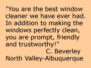 Albuquerque window cleaning